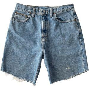 Vintage Calvin Klein Blue Jean High Rise Shorts 28